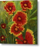 Blanket Flowers Metal Print