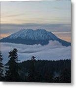 Blanket Of Fog Below Mount Saint Helens Metal Print