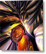 Blaze Abstract Metal Print