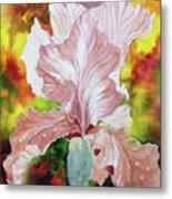 Blazing Iris Metal Print