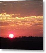 Blazing Sunset Metal Print