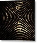 Bleached Circles Metal Print