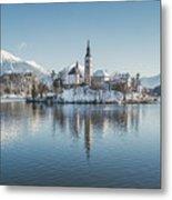Bled Island Winter Dreams Metal Print
