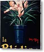Bledine- Baby - Flower Pot - Old Poster - Vintage - Wall Art - Art Print - Porridge  Metal Print