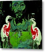 Bleeding  Birds Metal Print