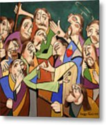 Blessed Is He Who Believes Without Seeing Metal Print by Anthony Falbo
