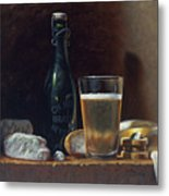 Bleu Cheese And Beer Metal Print