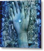 Bleu Danse Macabre Metal Print