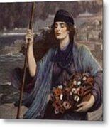 Blind Girl Of Pompeii Metal Print