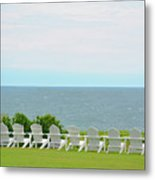 Block Island Hotel Ocean View Metal Print