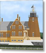 Block Island South East Rhode Island In Full Color Metal Print