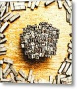 Block Of Communication Metal Print
