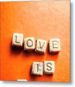 Block Quotes On Love Is All  Metal Print
