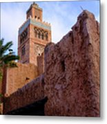 Blocks And High Tower Architecture From Orlando Florida Metal Print