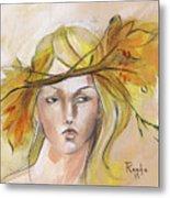 Blonde Autumn Forward Metal Print