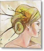 Blonde Autumn Right Metal Print by Jacque Hudson