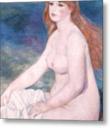 Blonde Bather II Metal Print