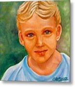 Blonde Boy Metal Print