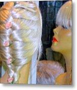 Blonde, Braids, Bangs And Beautiful Metal Print