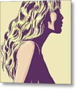 Blonde Metal Print by Giuseppe Cristiano