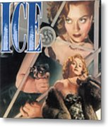 Blonde Ice Film Noir Metal Print
