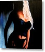 Blonde Woman Metal Print