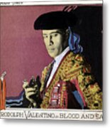 Blood And Sand, Rudolph Valentino, 1922 Metal Print by Everett