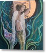 Blood Moon Goddess  Metal Print
