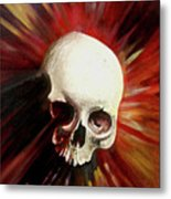 Blood Skull Metal Print