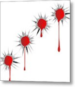 Blooded Bullet Holes Metal Print
