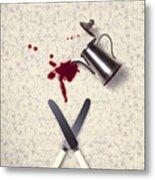Bloody Dining Table Metal Print