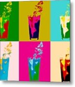 Bloody Mary Pop Art Panels Metal Print
