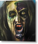 Bloody Zombie Nurse Screaming Out In Insanity Metal Print