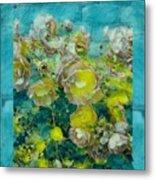 Bloom In Vintage Ornate Style Metal Print
