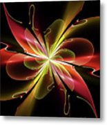 Bloom With Red Metal Print