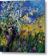 Blooming Appletree Metal Print