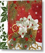 Blooming Christmas II Metal Print