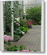 Blooming Conservatory Metal Print