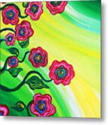 Blooms Metal Print by Brenda Higginson