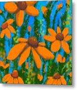 Blooms Of Orange Metal Print