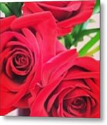 Blooms Of Red Metal Print