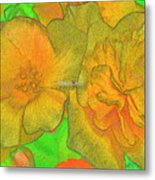 Blooms Yellow Metal Print