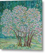 Bloomy Trees Metal Print