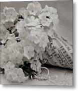 Blossom And The Bee Cornucopia  Metal Print