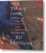 Blossom II Metal Print by Judy Dodds