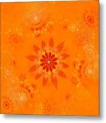 Blossom In Orange Metal Print