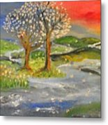Blossom Trees Metal Print