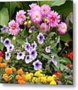 Blossoming Flowers Metal Print