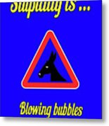 Blowing Bigstock Donkey 171252860 Metal Print