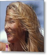 Blowing In Th Wind Metal Print